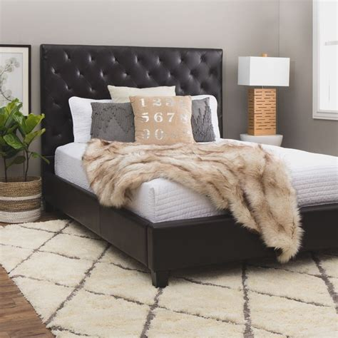 dark brown leather headboard best 25 leather bed frame ideas on pinterest black leather bed white leather bed frame and