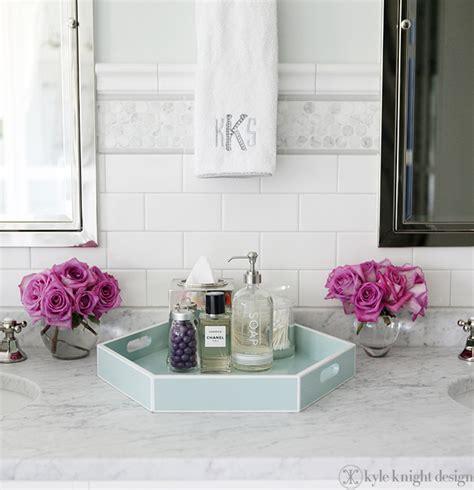 home goods bathroom decor carrara penny round tile transitional bathroom