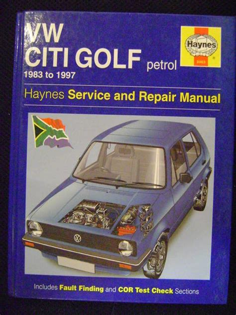 Workshop Manuals Volkswagen Citi Golf Petrol 1983 1997