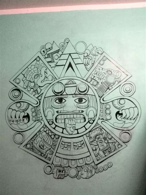 aztec calendar tattoo design pin by juan soria on aztec for