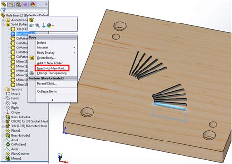 solidworks pattern of bodies creating drawings for solidworks multi body parts