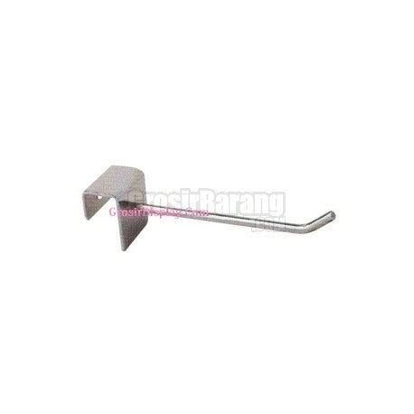 Hook Hanger Gantungan Tempel Serbaguna gantungan serbaguna stainless 30 cm single hook tempel di hollow pipa kotak grosir display