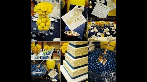 Navy and Yellow Wedding Ideas   YouTube