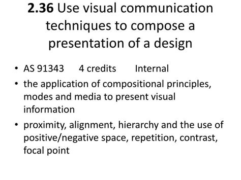visual communication design ppt ppt dvc level 2 part 7 lesley pearce national