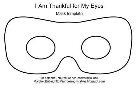 eye mask template sunbeam printables mask craft for paul was blinded i am
