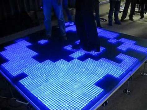 D J Flooring by Interactive Led Floor Tile Youtube