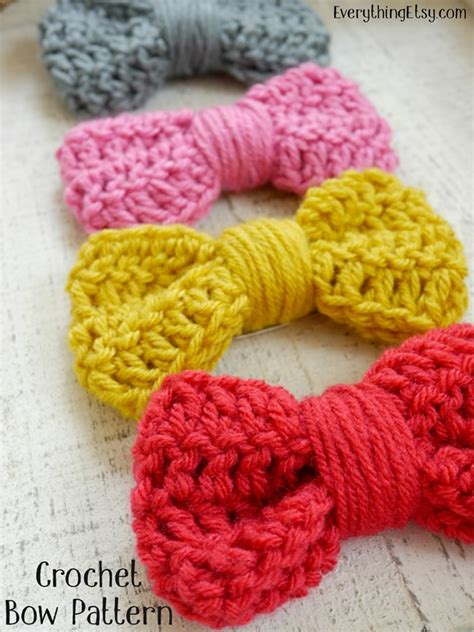 free crochet bow pattern crochet bow pattern easy peasy tutorial everythingetsy com