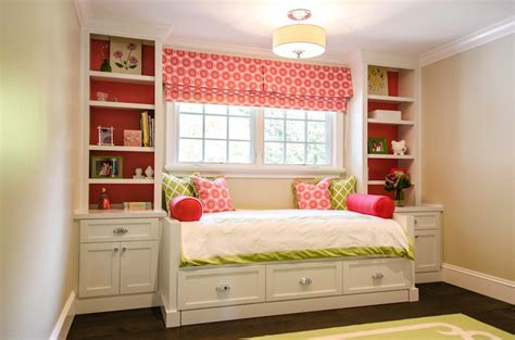 built  daybed traditional girls room evars