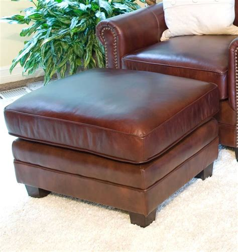 top grain leather chair and ottoman elements home furnishings winslow 2 set top
