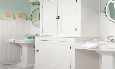 bathrooms with beadboard white beadboard bathroom wall