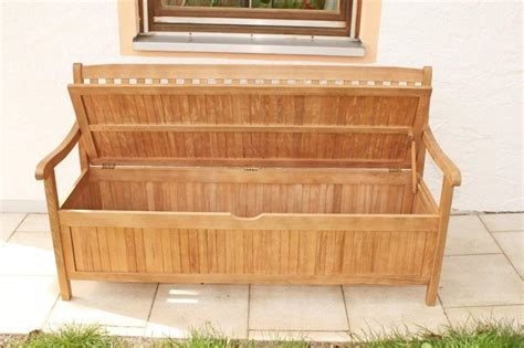 garten truhenbank gartenbank truhenbank 3 sitzig aus fsc eukalyptus 157 cm