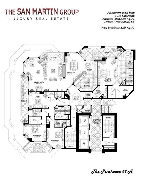 luxury condo floor plans luxury penthouse floor plans zhome plans details
