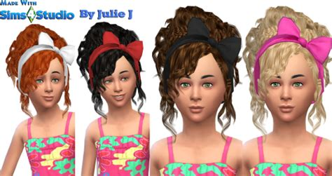 sims 3 custom content haie bow sims 4 custom content finds 3to4 bow hair for little girls