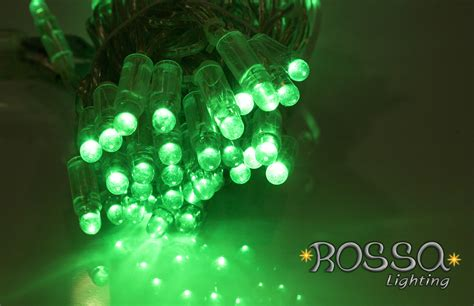 string lights green string lights leds clear cable
