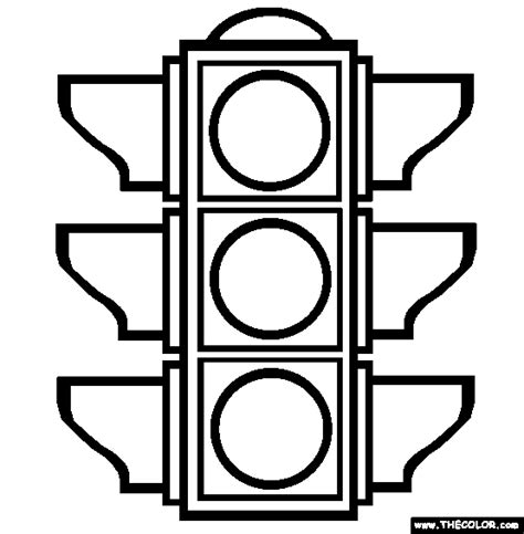 the traffic light coloring page free the traffic light