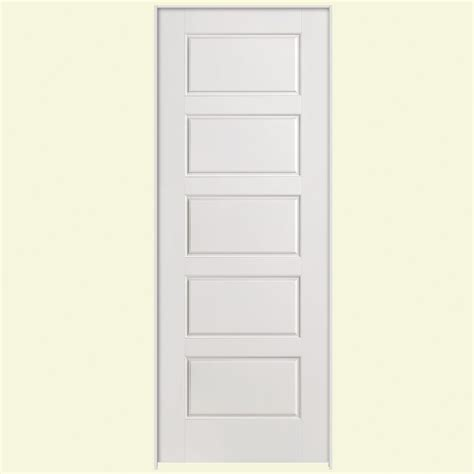 Home Depot Prehung Interior Doors Masonite 30 In X 80 In Solidoor Riverside Smooth 5 Panel Equal Solid Primed Composite