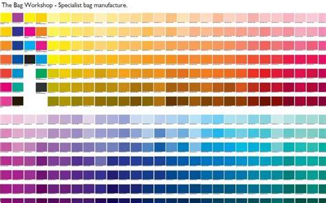 pantone color guide free pantone colour chart the bag workshop