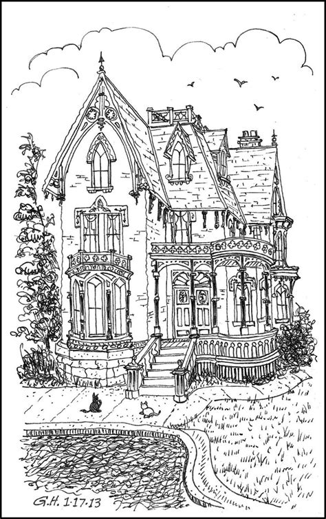 printable coloring pages for adults houses victorian house adult colouring adult colouring
