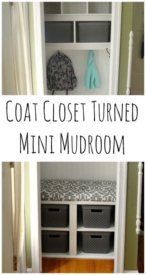 coat closet turned mini mudroom one artsy