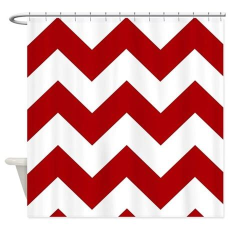 red and white shower curtain red and white chevron shower curtain by iretro