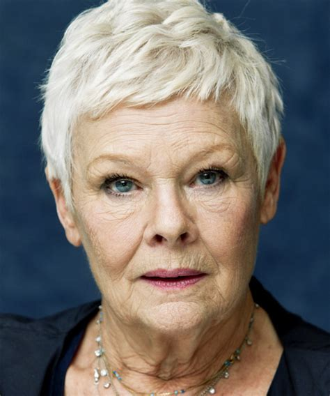 Judy Dench Hairstyle Front And Back | judi dench short straight casual hairstyle