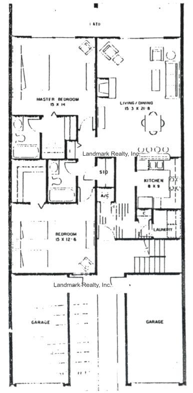 2 Bedroom Plans Floor Plan Sea Winds Condos Two Bedroom Flats In St