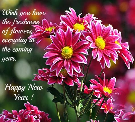 flower new year greetings happy new year 2018 pictures
