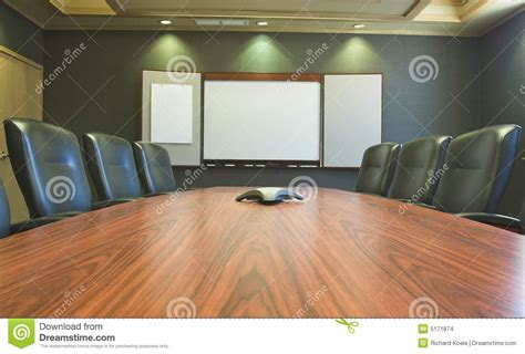 Whiteboard Conference Table Conference Table W Blank Whiteboard Stock Images Image 5171874