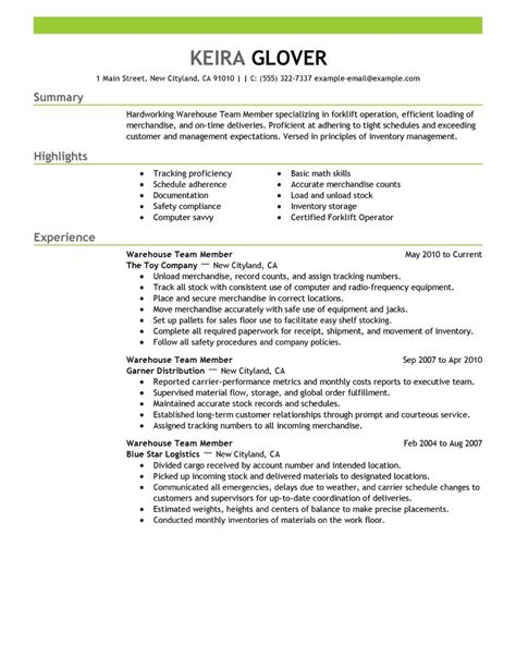 How Do You Make A Resume For Your First Job by Best Team Members Resume Example Livecareer