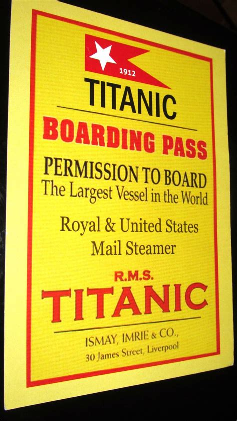 new titanic boat tickets 99 best images about titanic reproductions themes etc on