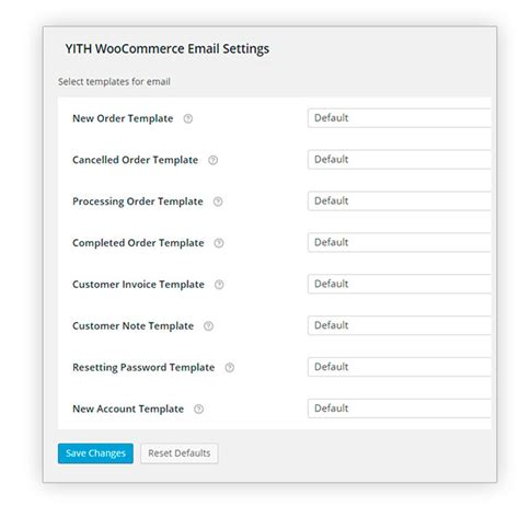 Yith Woocommerce Email Templates Woocommerce Email Templates