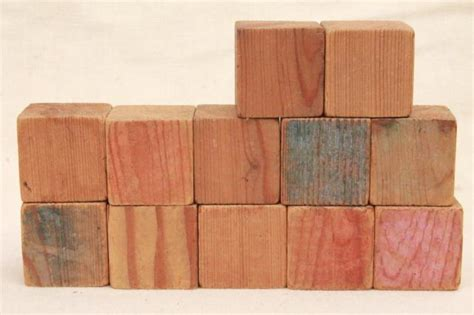 Handmade Wooden Blocks - plain primitive handmade wooden blocks 1930s depression