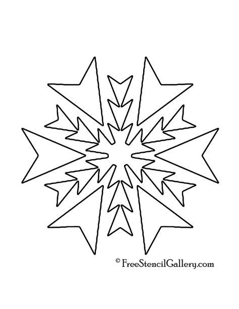free printable snowflakes stencils snowflake stencil 19 free stencil gallery