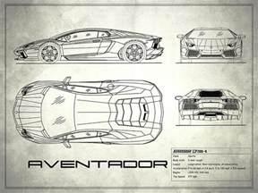 Lamborghini Aventador Blueprint The Aventador Blueprint White Photograph By Rogan