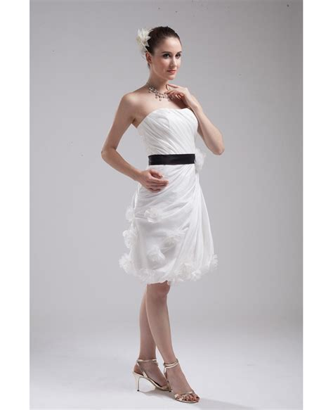 elegant reception short wedding dresses  color white