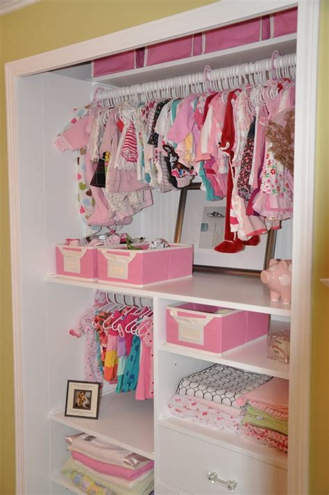 organized baby closet build the shelves to reach front of
