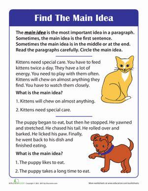 main idea of a story worksheet slp stuff reading