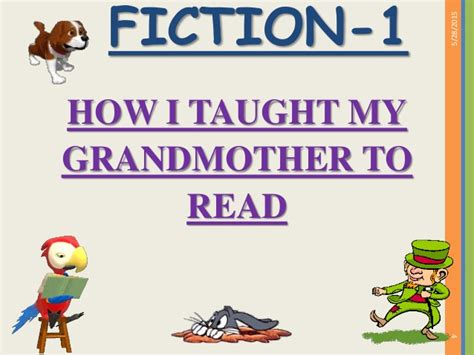my reasing how i taught my grandmother to read