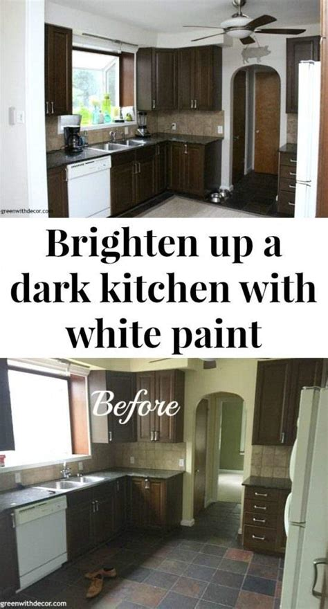 how to brighten up a dark kitchen green with decor the painted kitchen aesthetic white