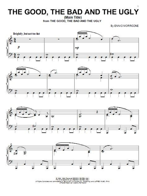 Theme Song Good Bad Ugly | ennio morricone search results sheet music direct