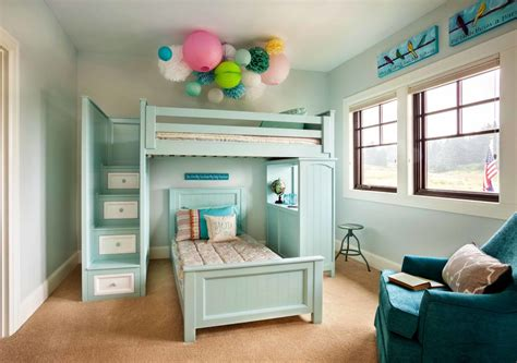 Innovative Bunk Bed With Stairs In Kids Traditional With Bunk Bed With Built In Desk