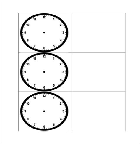layout word clock printable clock templates 17 free word pdf format
