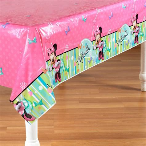 minnie mouse table cover disney minnie mouse bow tique plastic tablecover