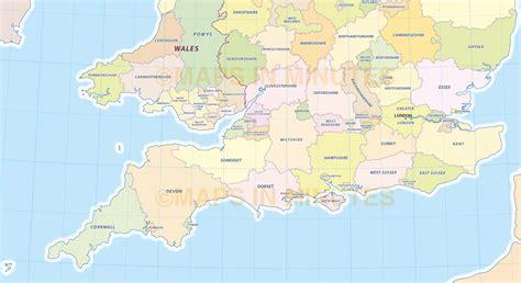 map uk south digital uk simple county administrative map 5 000 000