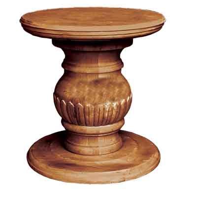 table pedestal base only 66000 carved pedestal base only