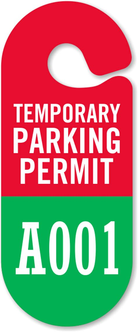 Guest Parking Passes Customize Online Temporary Parking Pass Template