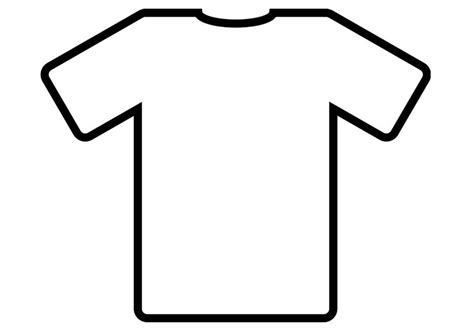 Coloring Page T Shirt by Outline T Shirt Coloring Pages