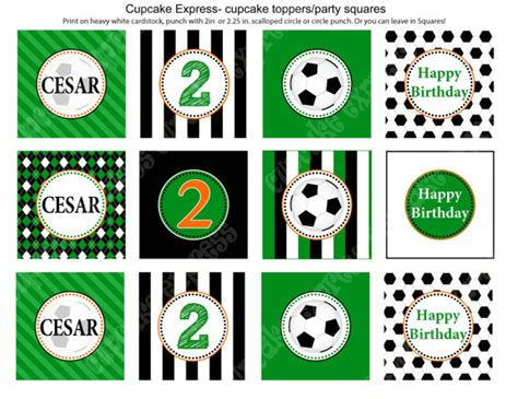 printable soccer birthday decorations 6 best images of diy printable cupcake toppers sports