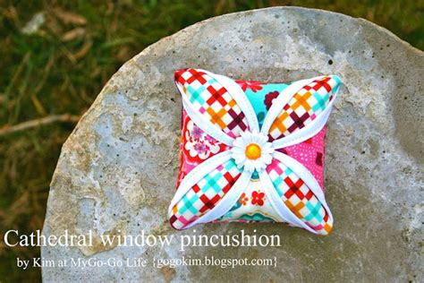 Cathedral Window Patchwork Pincushion - 2012 in review 171 moda bake shop