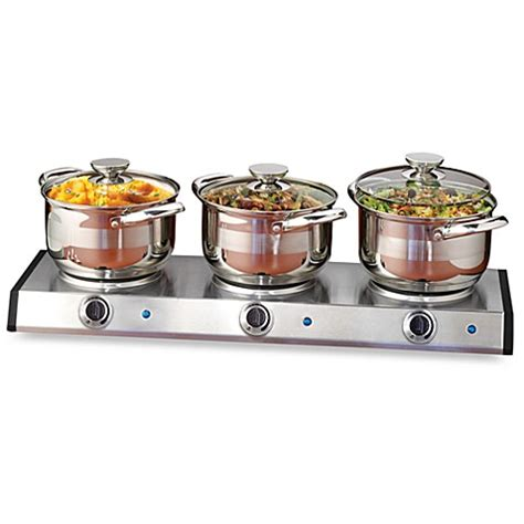 Nostalgia Electrics Stainless Steel Slow Cooker Buffet Cooker Buffet